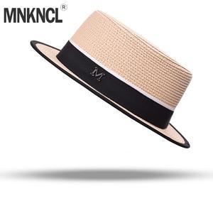 MNKNCL Top Straw Hat Men Women Caps Beach Sun Hats Flower dbd86e6db90c