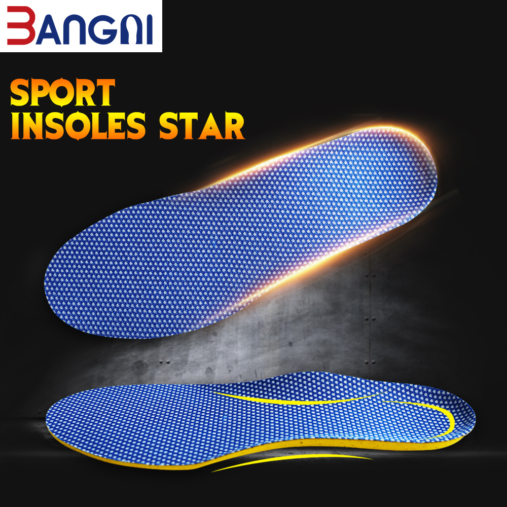 3ANGNI Original Running Height Increase Anti-Slippery Soft  Comfortable Ortholite Sport Insoles For Women Men Shoes