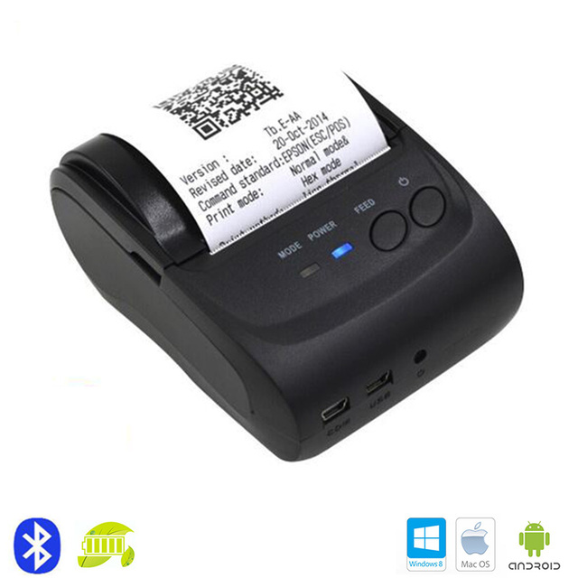 Мини Bluetooth для Беспроводной Office Тепловой Чековый Принтер для Печати Мобильный Телефон iOS и Android Tablet PC Портативный