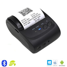 Mini Bluetooth Wireless Office Thermal Receipt Printer Printing for Mobile Phone iOS & Android Tablet PC Portable Handheld