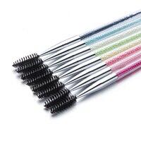 8 adet Set Kirpik Kaş Makyaj Kalem Fırça Spiral Inci Değneklerini Kozmetik Makyaj Uzatma Kirpik Maskara Göz Tarak Aplikatör yeni