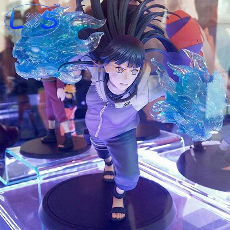 (LONSUN)Naruto 15CM  Shippuden Movie Hinata Gently Step Hyuuga Hinata Action Figure Model PVC Toys Anime Game Doll Toy  Gift Toy naruto shippuden hyuuga hinata naruto gals pvc action figure collectible model toy