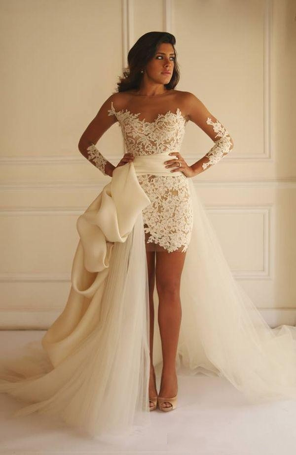 Newest Product For Women Country Wedding Dresses Short In Front Long In Back