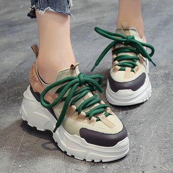 Vrouwen Gevulkaniseerd schoenen Voorjaar Vrouwen Casual Schoenen Comfort Platform Schoenen Vrouw Sneakers nieuwe Trainers chaussure femme Vrouwen Schoenen