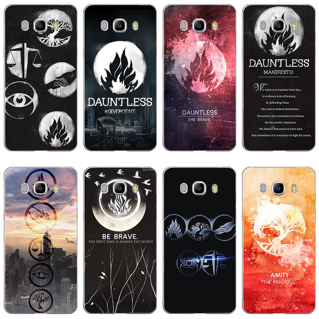 US $1 12 14% OFF|97GV Divergent Factions Dauntless Hard Case Cover for  Samsung Note 3 4 5 8 for Galaxy a3 a5 2017 j3 j5 j7 2015 2016 2017-in