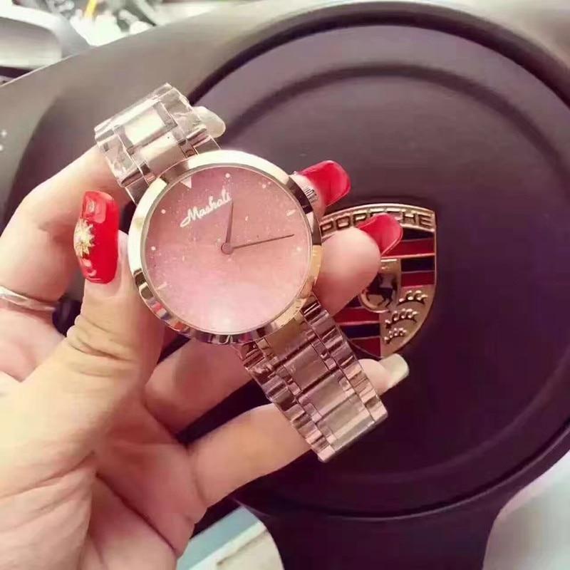 High Qulaity Women Watch!Luxury Fashion Crystal Bracelet Female Starry Sky Dress Watch Ladies Hot Sale Rose Gold Wristwatches