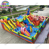 20*15m Large Bouncy Castle For Kids Inflatable Jumping Castle Bounce Fun City Free LOGO Printing Trampolines