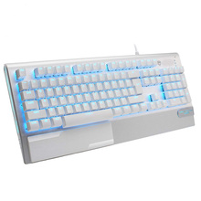 Mechanical Gaming Keyboard X1000 Metal Panel USB Wired Computer Keyboard with Wrist Rest, LED Backlit Keyboard Blue Switch цена