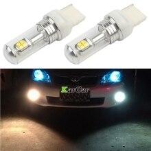 2x New arrivals 40W CREE Chip XBD 572LM 7440 LED Reverse Lights T20 Car Parking Bulbs, 12V 24V W21W LED Brake Lamp 6000K White