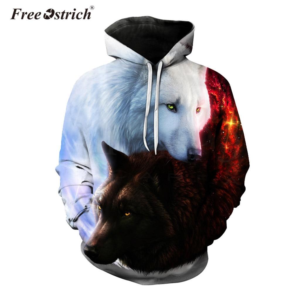 Free Ostrich Hoodies Sweatshirt 3D Print Unisex Women Men Pullovers Long Sleeve Harajuku Sudadera Mujer Streetwear Dropshipping