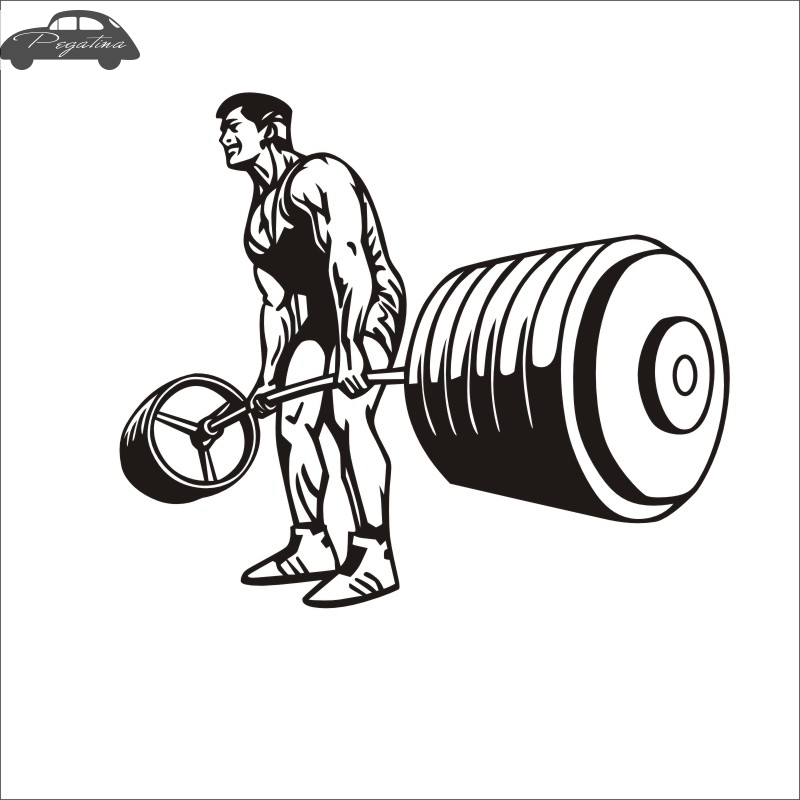 Pegatina Car Fitness Sticker Body-building Decal GYM Posters Vinyl Wall Decals Quadro Parede Decor Mural Fitness Sticker