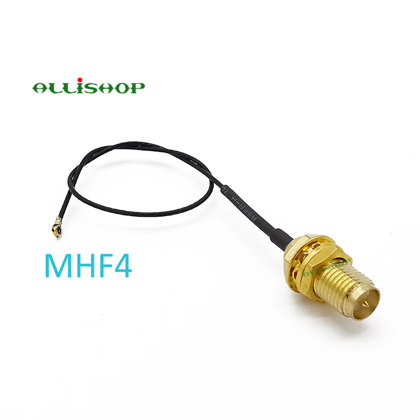 RF RP SMA Female Male Pin to UFL./IPX MHF4 Female Connector UFL SMA Pigtail Cord 0.81mm for PCI WiFi Card Wireless Router(China)