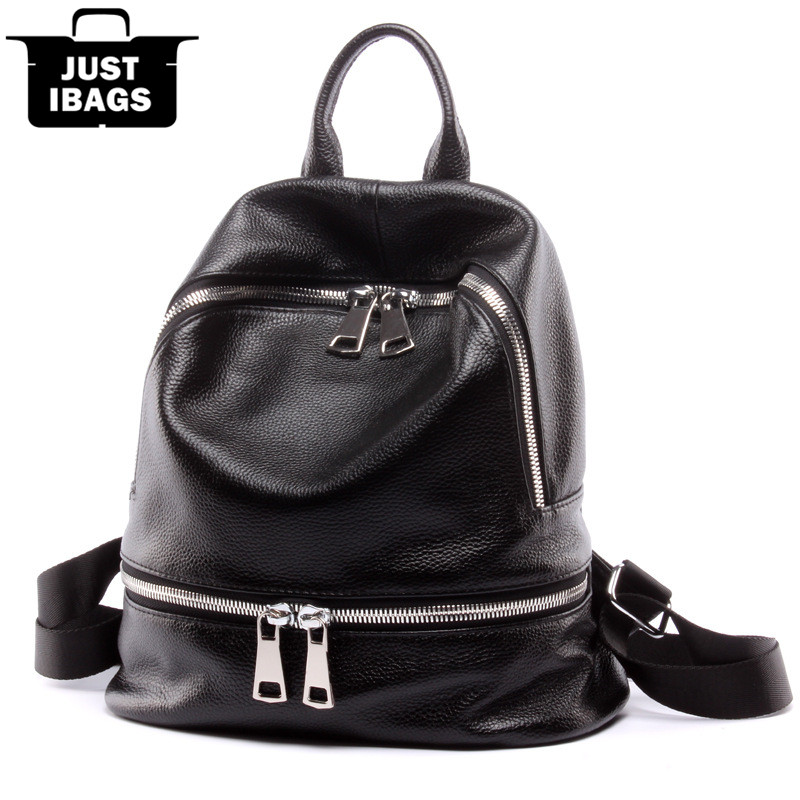 New preppy style women backpack genuine leather double shoulder bags for college school students girls desinger travel daypack 2015 new fashion designer genuine leather brand ladies preppy style women backpack school backpack women shoulder wnb069