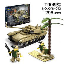 Modern Classic Tank T90 Leclerc M1A2 Challenger 2 Building Blocks Kit Military Army Toy Tank Models Compatible with Legoe