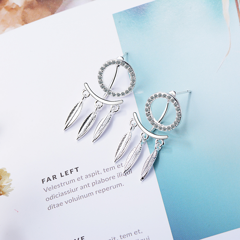 RONERAI 2018 New Arrival Female CZ Earrings Jewelry Fashion 925 Silver Dreamcatcher Earring For Women Engagement Accessories