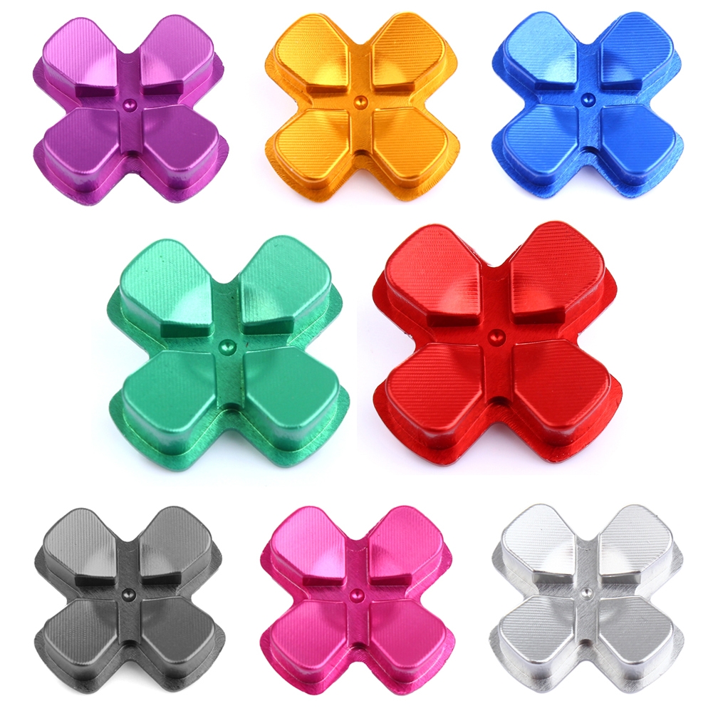Custom Aluminum Alloy Metallic D-pad Dpad for PS4 Controller Metal Direction Button Key Button Replacement for PS4 Game Accs