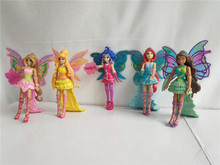 Winx Club Doll rainbow colorful girl Action Figures Fairy Bloom Dolls with lovely pets Classic Toys For Girls Gift