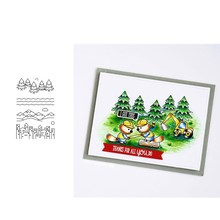 CHRISTMAS TREE CITY Transparent Clear Silicone Stamp/Seal for DIY scrapbooking/photo album Decorative clear stamp sheets