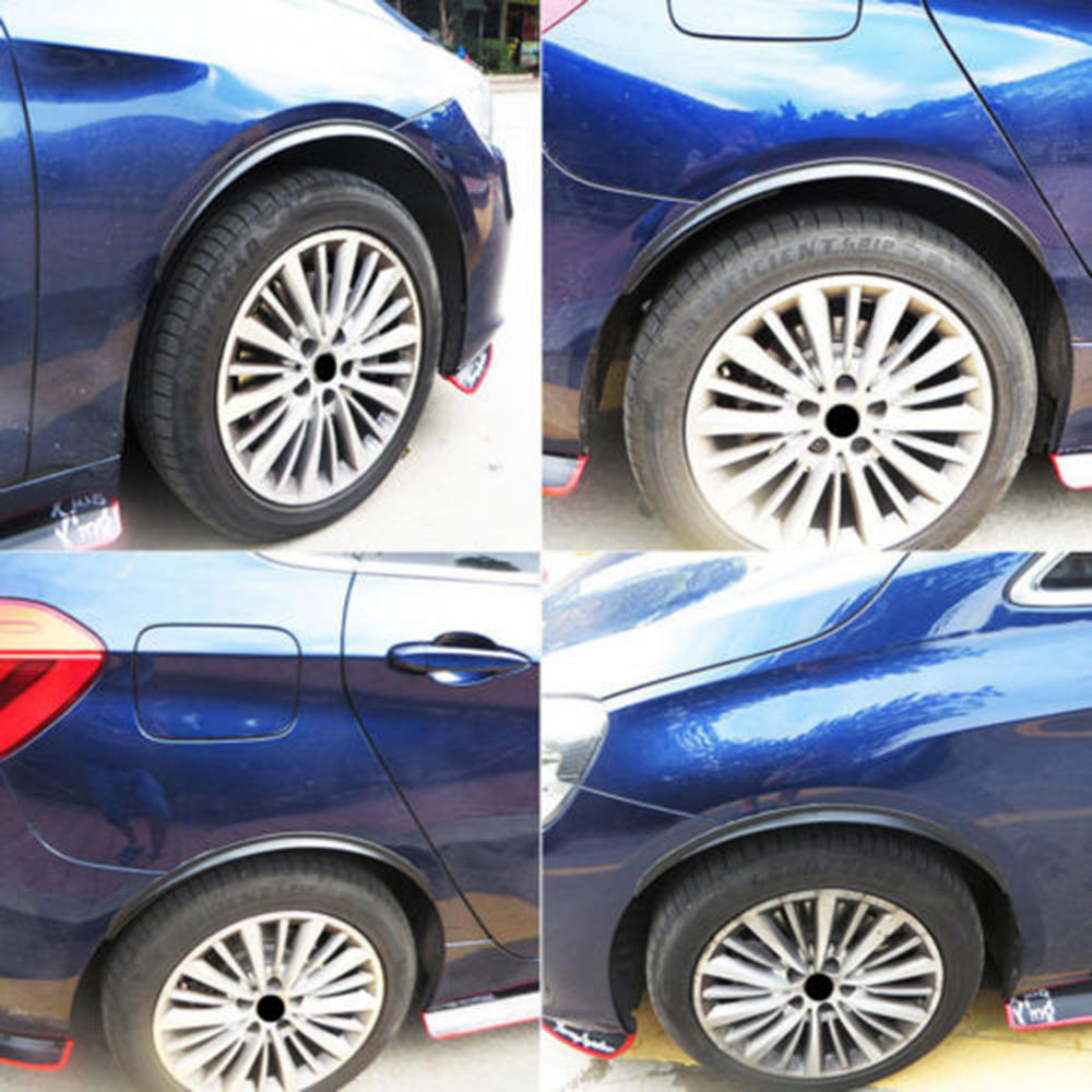 """Tapes 4x 28.7/"""" Carbon Fiber Car Wheel Eyebrow Arch Lips Flare Fender Protector"""