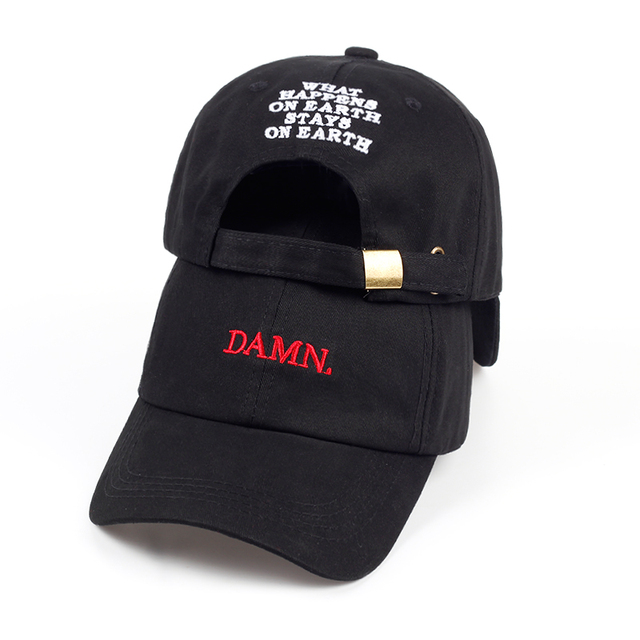 701dd1da01073 DAMN Hats for men and woman Embroidered DAMN. Dad Hat Hip Hop Stitched  Kendrick lamar