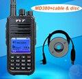 TYT MD-380 MD-380 DMR Digital Radio UHF 400-480 MHz UHF 1000 Canales de Walkie Talkie + Cable de Programación USB y CD md380