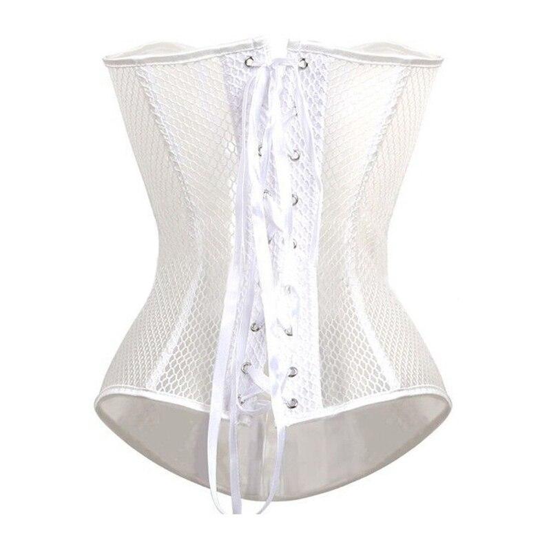 Image 5 - Sexy Style Mesh Lace Bustier Corset Hollow Out Design Busk Closure Corset Body Shapewear Cincher Corselet Waist Trainerbustier corsetcorset styledesigner corset -