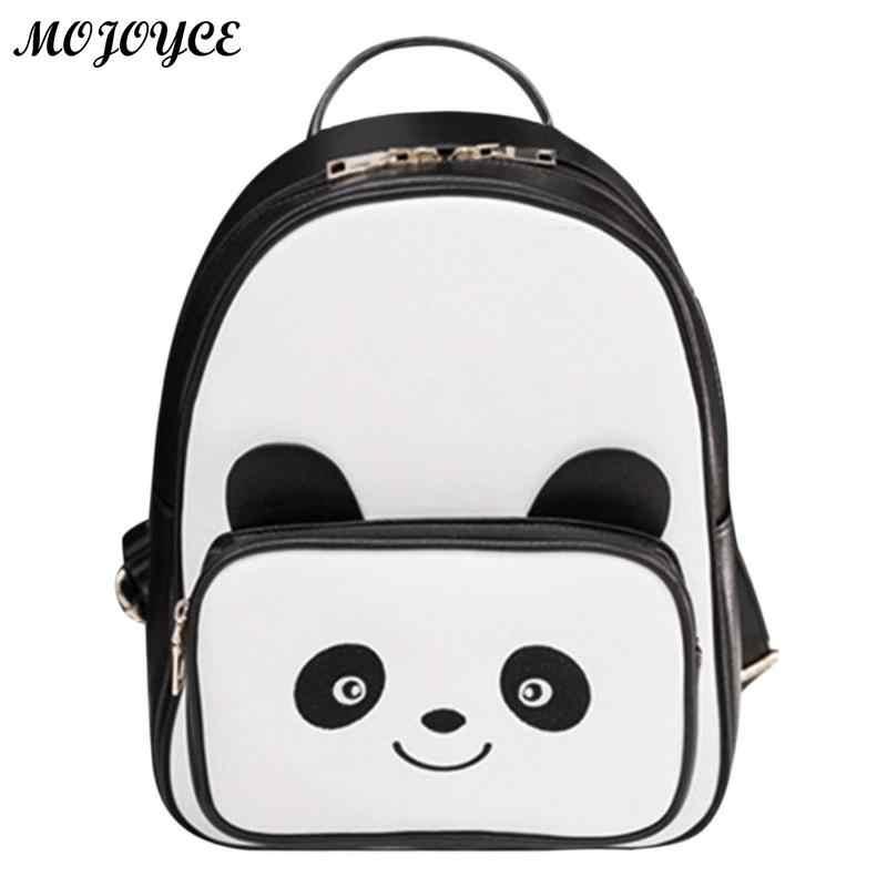 671073a85e43 Прекрасный Повседневное рюкзак Для женщин с рисунком панды из искусственной  кожи Школьные сумки для девочек студентов