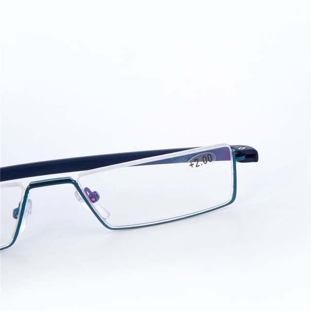 de480a7086 YOOSKE Men s Brand Reading Glasses Pencil Case Metal Frame Eyeglasses Women  Men Portable Pen Box Presbyopic