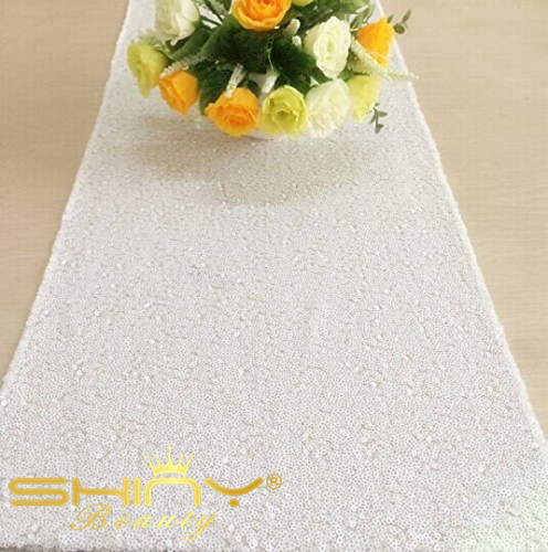 9ft Length Sequin Table Runer White Runner Sparkly Sequintable Linens For Wedding Decoration 30x275cm A In Runners From Home