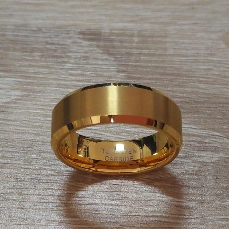 8mm kvinder mænds guld farve alliance tungsten carbide bryllup band - Mode smykker - Foto 3
