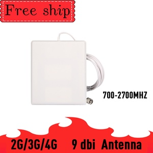 Image 2 - Outside gain 13dbi Log antenna CDMA UMTS GSM 700~2700 mhz  Gain 9dbi For Cell Phone Booster Repeater Panel Antenna With 2m Cable