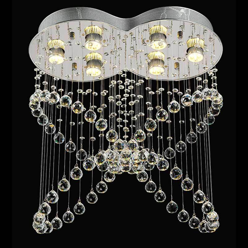 LED Hanging Lamp Butterfly Crystal Pendant Lights Modern Living Room Dining Room Hallway Decor Fixture 5W GU10 Bulbs 110-240V 3 lights floral crystal light fixture crystal pendant hanging suspension light mcp0520 for dining room aisle hallway porch
