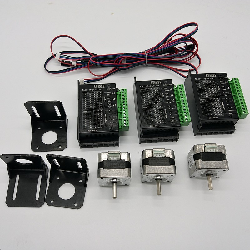 Free Shipping 3pcs Nema17 Stepper Motor Driver Kit 28Ncm 1 3A 40Oz in 4Lead for 3D