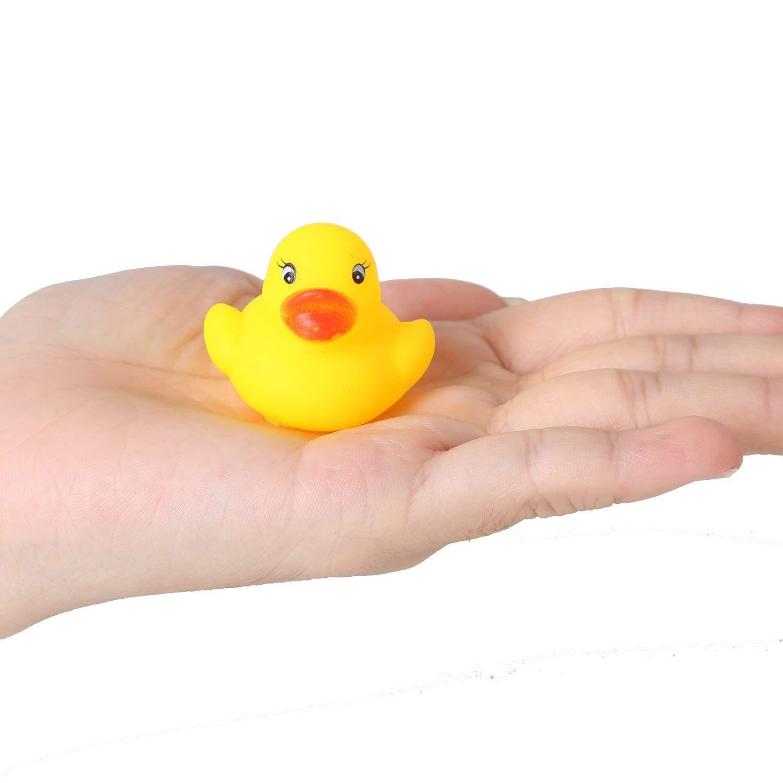 Neue 1,4 zoll Mini Gelb Ducks Gummi Bad Spielzeug für Baby Kinder Spielzeug Reine Natürliche Gelb Cute Rubber Ducky (set von 60)