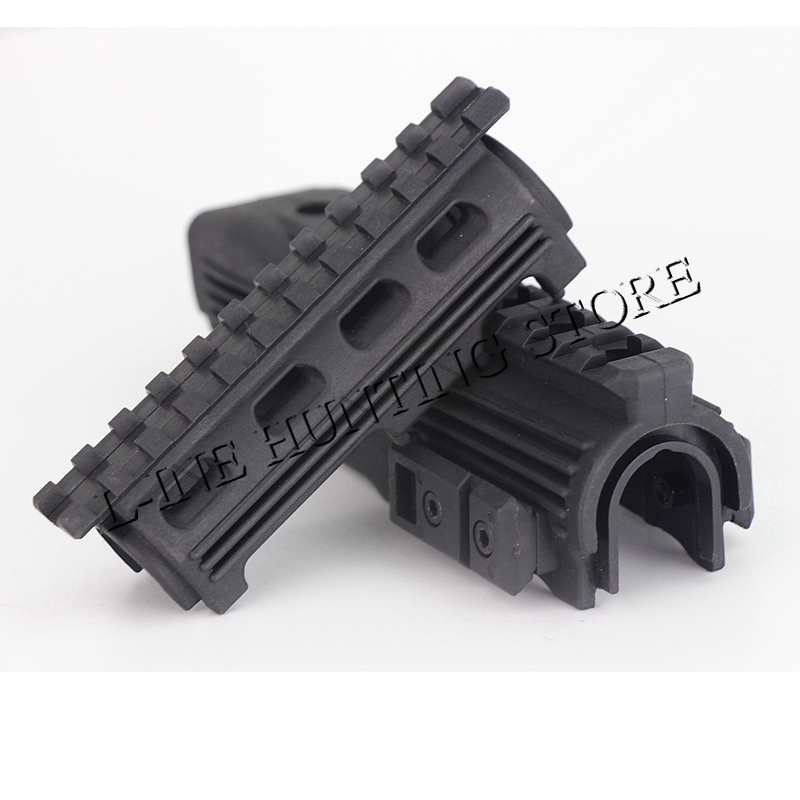 High Quality Polymer RIS Railed AK Handguard For 47 74 Series Black Hunting Rifle Gun Gear Accessories(China)