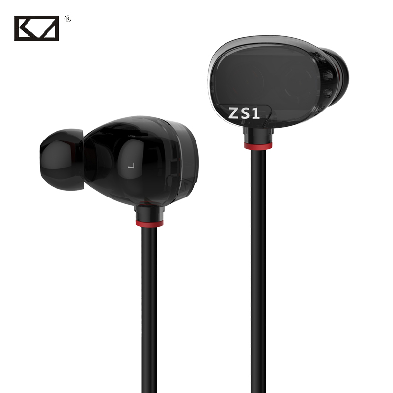 KZ ZS1 4 Dynamics HiFi Music Wire Coil Stereo Fone de Ouvido Com Microfone Ear Phones Oortjes Kopfhorer Auricolari Headphones dna solution structure dynamics