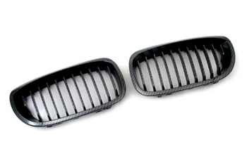 Carbon Fiber Style Sport Front Grille Replacement For BMW E46 3 Series Coupe (Facelifted)