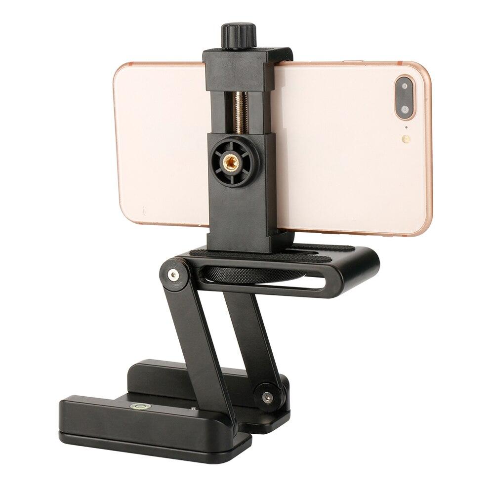 Della Flessione Della macchina fotografica Treppiede Z Pan Tilt Testa del Treppiedi Testa A Sfera Ballhead con il Telefono Treppiede di Montaggio per iPhone X/Samsung per Canon/Nikon DSLR