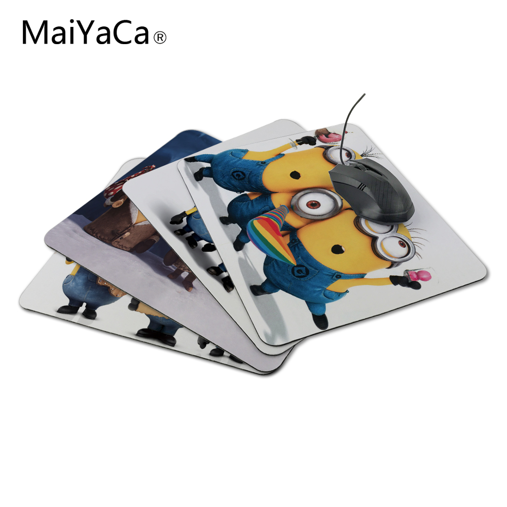 MaiYaCa Nueva PC antideslizante Cute Cartoon Anime Minions Silicon Mouse Pad Mat Mouse Pad para estera óptica