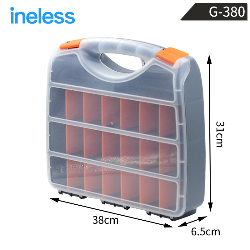 ФОТО G-380 14-inch high-grade/both sides/ plastic parts boxes, storage compartments storage tools, electronic components storage box