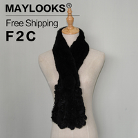 Maylooks Womens Scarfs Fashionable Rabbit Fur Scarves Shawl Scarf For Women Scarves Head Wrap With Fur