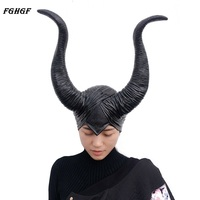 FGHGF Halloween Cosplay Horns Party Costume Headpiece Hat Cap Masks Women Halloween Cosplay Prop Party Costume
