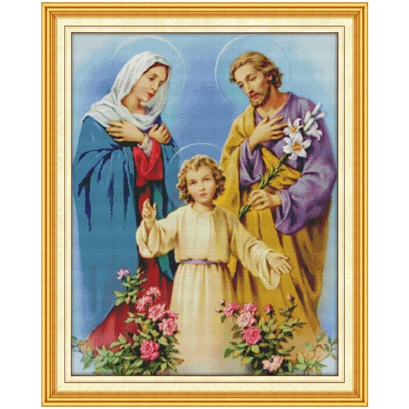 Вышивка крестом святое семейство