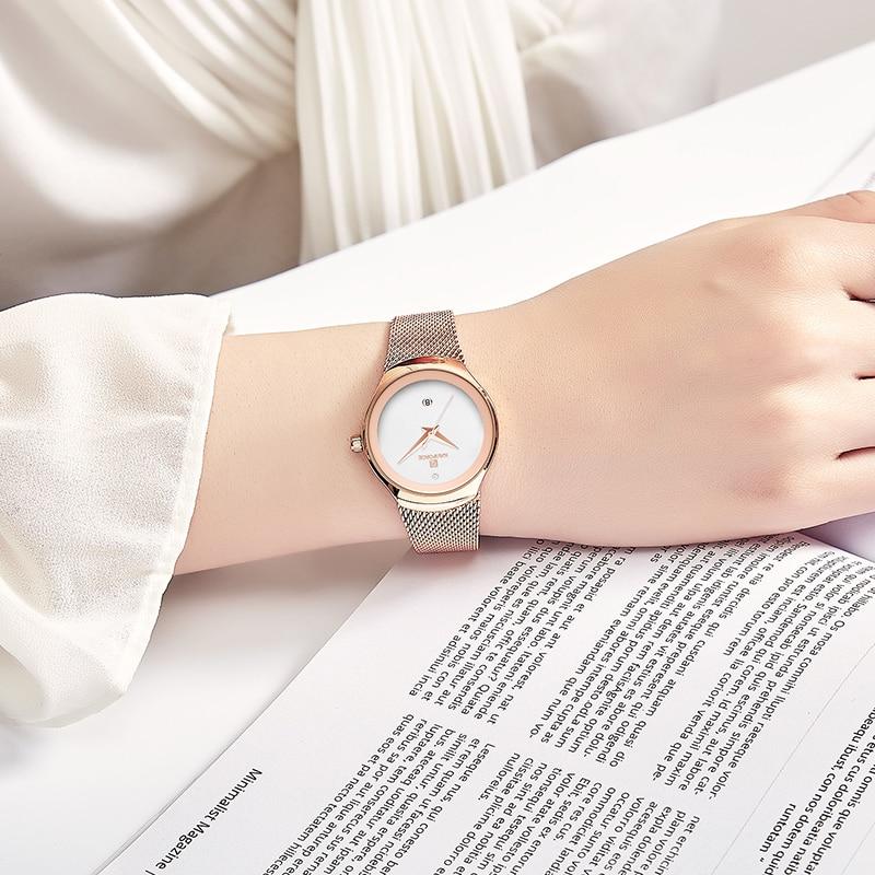 Women Watch NAVIFORCE Fashion Dress Quartz Watches Lady Stainless Steel Waterproof Wristwatch Simple Girl Clock Relogio Feminino