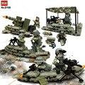 Brigada de Artillería Del Ejército de EE.UU. Equipo de Batalla Jungle Commando Arma Arma Building Blocks Juguetes Compatible Militares WW2
