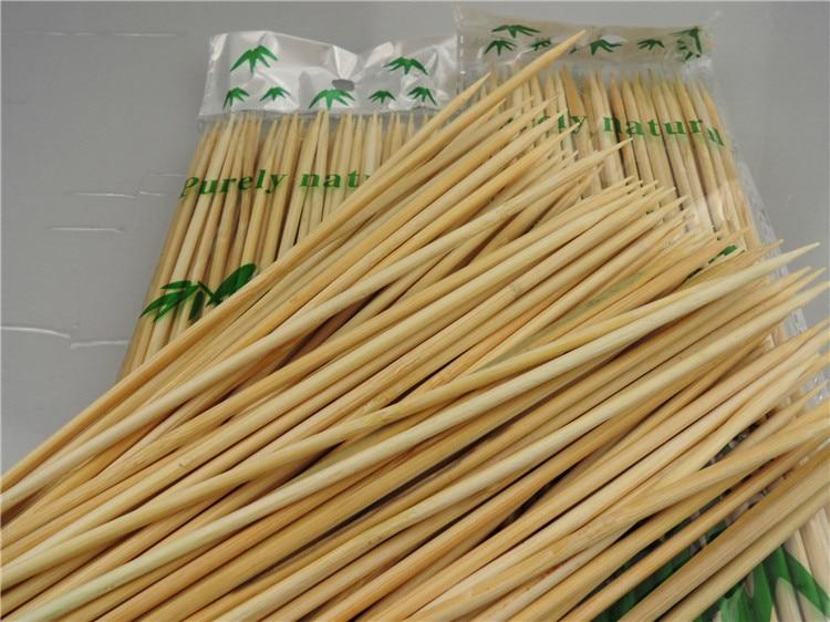 Palos de bambú de 30 cm Cerca de 85 piezas de cordero natural pinchos palos para barbacoa