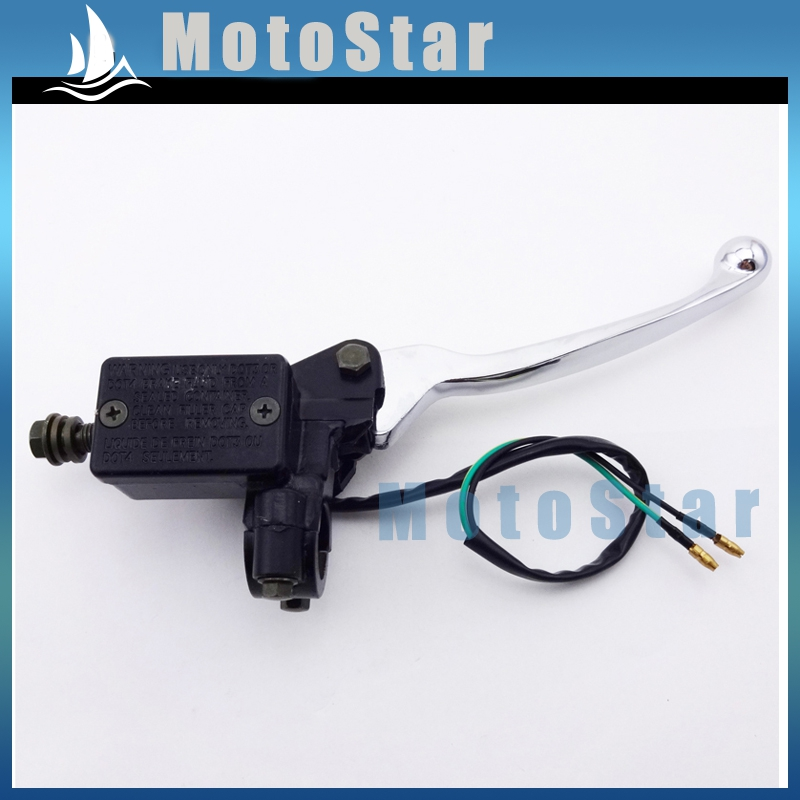 7//8 22mm Hydraulic Brake Master Cylinder Left Right Handle Lever for 50cc 70cc 90cc 110cc 125cc 150cc Chinese Quad 4 Wheeler ATV