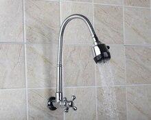 Е-пак ouboni кухня настенный кран твердая латунь ванной бассейна Раковина водопроводной воды