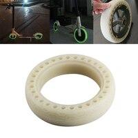 8 1/2x2 Leucht Stoßdämpfer Gummi Reifen Rad Reifen Fluoreszierende Solide Loch Reifen Für Xiaomi Mijia m365 Elektrische Roller