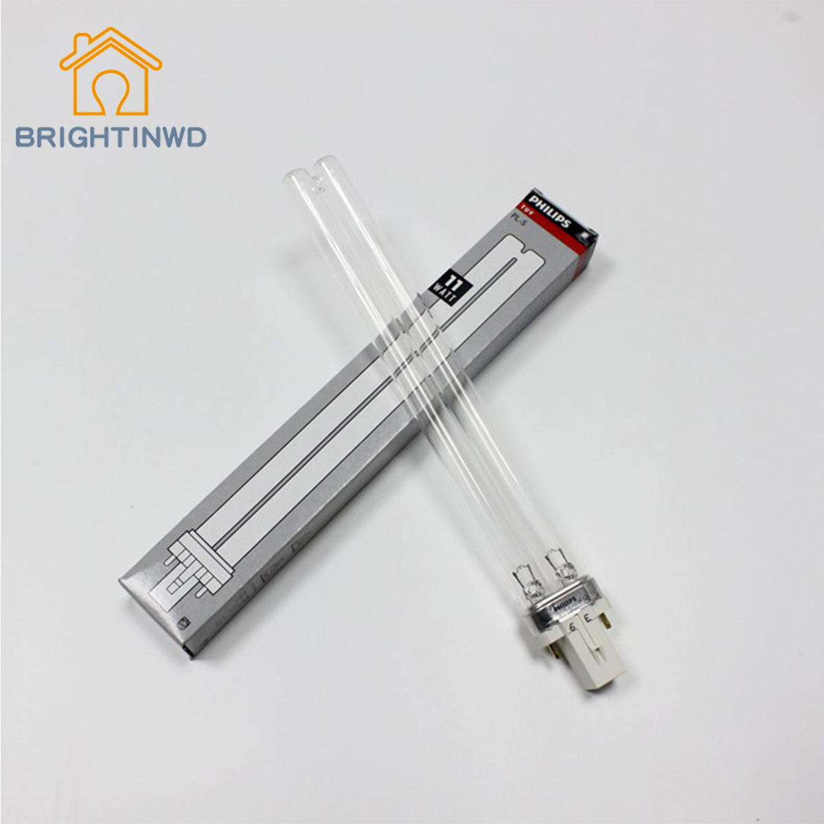 BRIGHTINWD UV Disinfection Lamp PL S TUV 9W UVC Sterilization Lamp Sterilization ...
